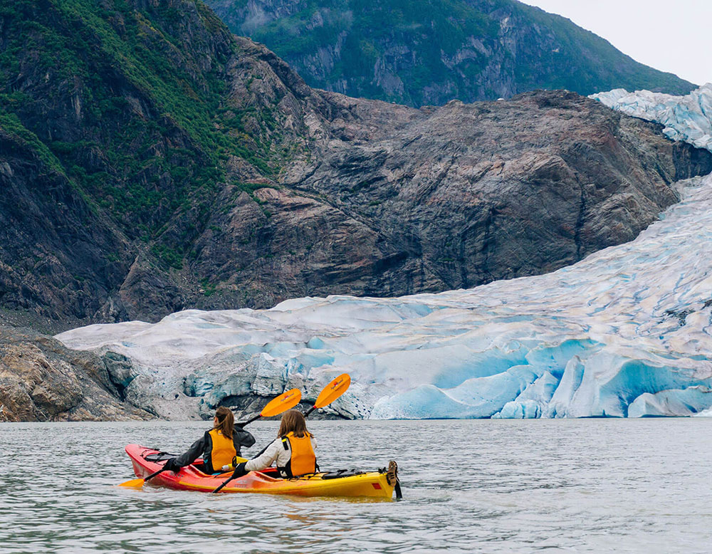 Kayak to Mendnhall Glacier
